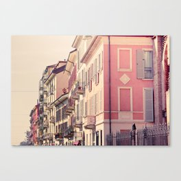 Houses of Milan, Italy Canvas Print