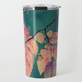 Yesterday autumn leaves in botanic garden Travel Mug