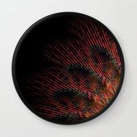 terry fan Wall Clocks featuring Fan by LoRo  Art & Pictures