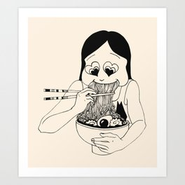 I Heart Ramen Art Print