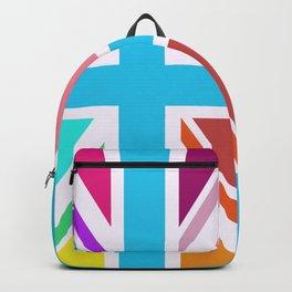 Union Jack/Flag Design Multicoloured Backpack