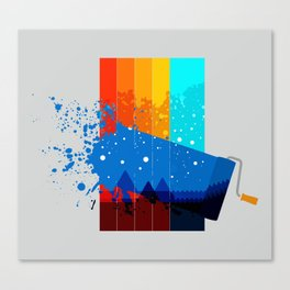 Ocean and a Rock Canvas Print