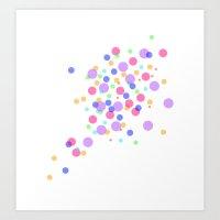 confetti Art Prints featuring Confetti by DuniStudioDesign