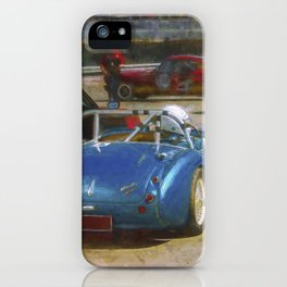 Austin Healey Waiting to Race iPhone Case
