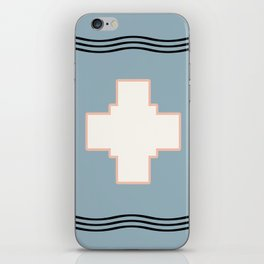 Cross tribal wave iPhone Skin