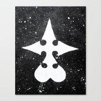 kingdom hearts Canvas Prints featuring Kingdom Hearts Nobodies Symbol by Herk Designs