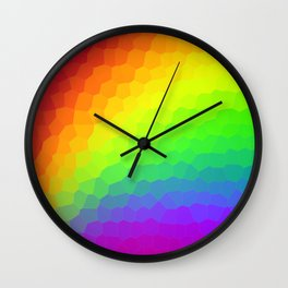 Stained Glass Rainbow Gradient (Dark) Wall Clock