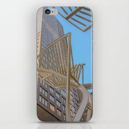 downtown sky iPhone Skin