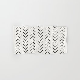 Mud Cloth Big Arrows in Cream Hand & Bath Towel