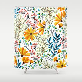 Spring Foral Pattern Shower Curtain