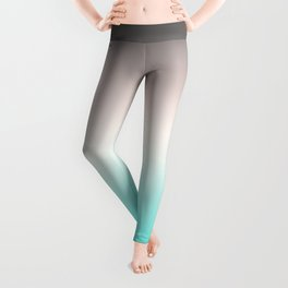 Turquoise gray Ombre Leggings