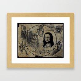 DA VINCI FLASH Framed Art Print