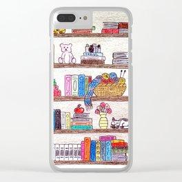 Colored booshelf! Clear iPhone Case