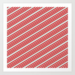 Carnival Stripes Art Print
