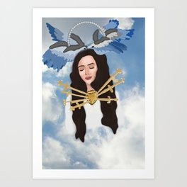 Angelic Del Rey Art Print