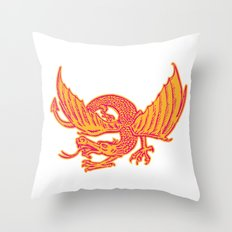 Dragon Medieval Front Etching Throw Pillow