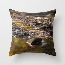 Little stream Throw Pillow