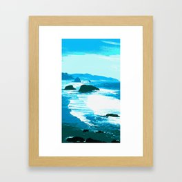 oregon beach Framed Art Print