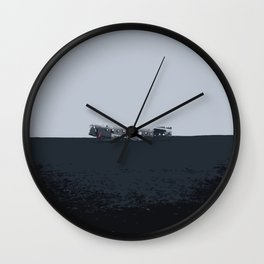 Iceland Airplane Crash Site - Digital Art Wall Clock