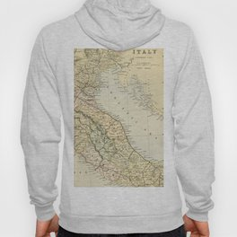 Retro & Vintage Map of Northern Italy Hoody