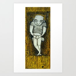 HOMEM ENCOLHIDO Art Print