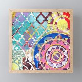 Mixed Media Mandala Framed Mini Art Print