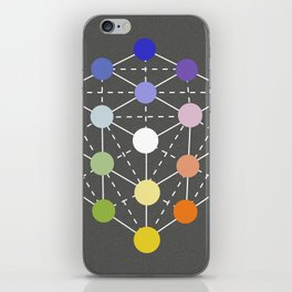 Colour cube (white point) from the Manual of the science of colour by W. Benson, 1871, Remake iPhone Skin