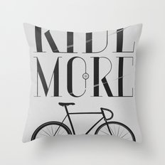 RIDE MORE BIKE_ Throw Pillow