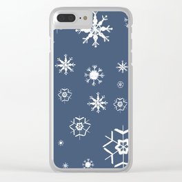 Blue Winter Dream #1 #snowflakes #decor #art #society6 Clear iPhone Case