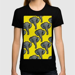 elephant in yellow T-shirt