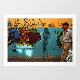 Graffiti, Lisbon, Portugal Art Print