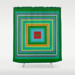 """""""Pop Ring Green""""   Op art Shower Curtain"""