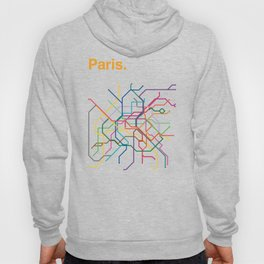 Paris Transit Map Hoody