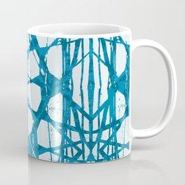 Blue and White Batik  Coffee Mug