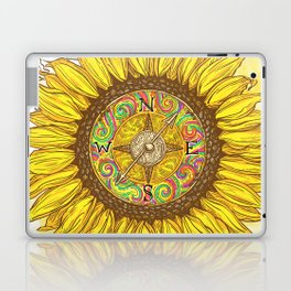 Sunflower Compass Laptop & iPad Skin