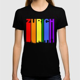 Zurich Switzerland Gay Pride Rainbow Skyline T-shirt
