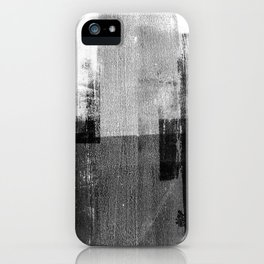 Black and White Minimalist Industrial Abstract iPhone Case