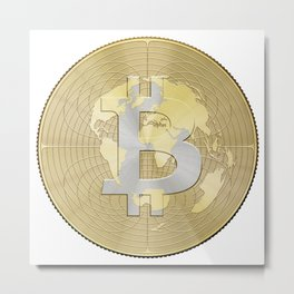 Bitcoin Crypto Currency Metal Print