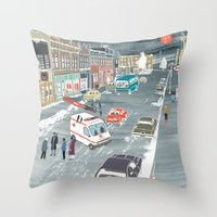 fargo Throw Pillows featuring F a r g o by Axstone