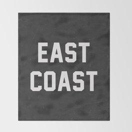 East Coast - black Throw Blanket