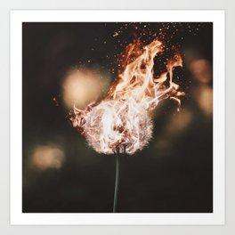 Burning it down Art Print