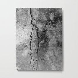 Broken Stone Texture Metal Print