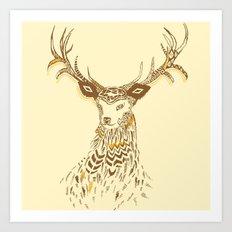 Tribal Deer Art Print