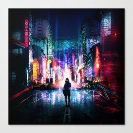 Tokyo Cyberpunk Japan Canvas Print