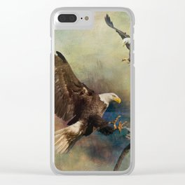 Eagles Are Landing Clear iPhone Case