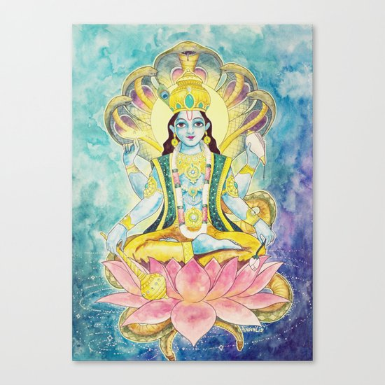 Preservation, Vishnu Canvas Print