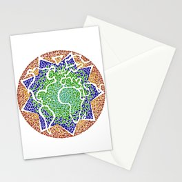"""""""The earth is but one country"""" Stationery Cards"""