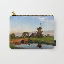 Windmill in a countryside landscape in Holland at sunset Carry-All Pouch