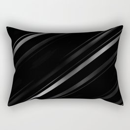 Minimalist Black Linear Abstract Print Rectangular Pillow