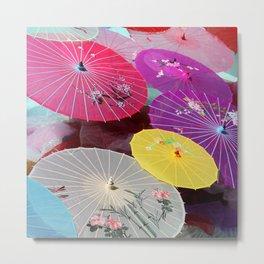 Floating Umbrella Islands Metal Print